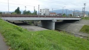 JR鉄橋と寒月橋
