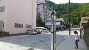 定鉄バス 定山渓湯の町バス停