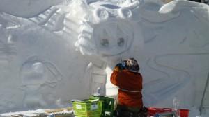 雪ミク雪像(11丁目)