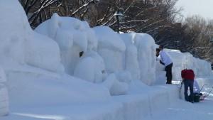 市民雪像(12丁目)
