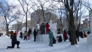 市民雪像(9丁目)