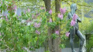 ライラックと湖風の像