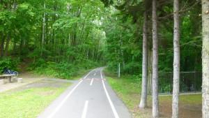 厚別南緑地内の自転車道