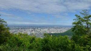 札幌中心部を望む