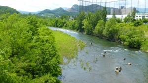 五輪大橋より豊平川を望む
