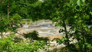 豊平川の河床(花魁淵付近)