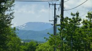 無意根山には残雪が
