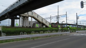 JR平和駅と柏山人道橋