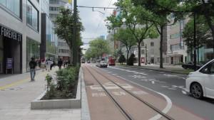 駅前通の新しい軌道
