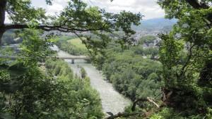 展望台から豊平川を望む