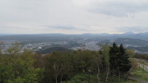 頂上からの展望(真駒内方向)