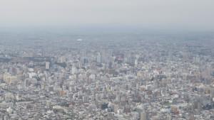 頂上からの展望(札幌駅方向)