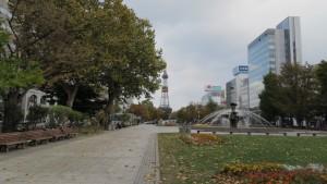 噴水とテレビ塔(8丁目)