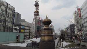 擬宝珠とテレビ塔