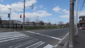 市道新琴似第5横通と安春川