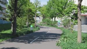 自転車道終点付近