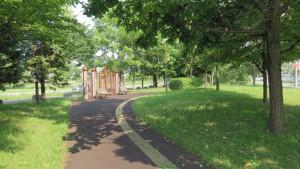 遊歩道「山口団地緑地」