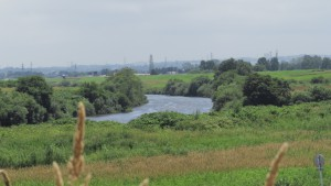豊平川に合流する厚別川