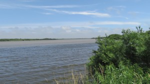 石狩川と豊平川の合流地点