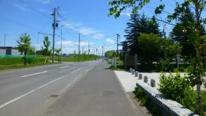 13号幹道線側公園入口