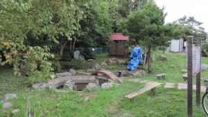 復元された水車小屋(旭小学校)