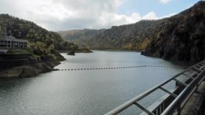 ダム貯水池「定山湖」