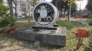 D51動車輪モニュメント