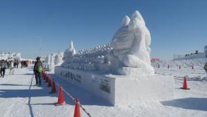 ウェルカム雪像