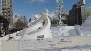 国際雪像 フィンランドチーム
