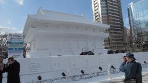大雪像「奈良・薬師寺 大講堂」