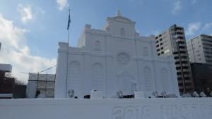大雪像「ストックホルム大聖堂」