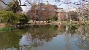 道庁赤レンガと南の池