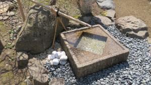 手水鉢と水琴窟