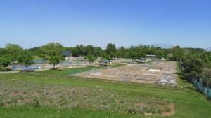 市民農園を望む