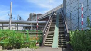 苗穂人道橋と新「苗穂駅ホーム」