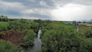 厚別川上流を望む