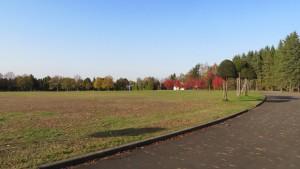 霊園中央にある円形広場