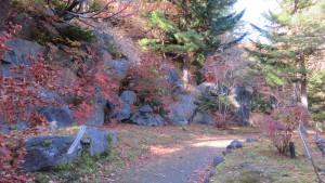 紅桜公園散策路の巨石