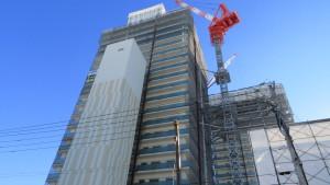 北4東6再開発地区で工事中の高層マンション