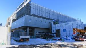 北4東6再開発地区で工事中の新中央体育館