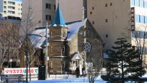 日本基督教団札幌教会を望む