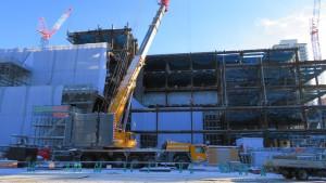 工事中のNHK新札幌放送会館