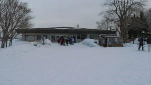 スキーコース出発点の管理事務所