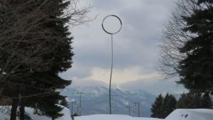野外彫刻「芽生えの塔」