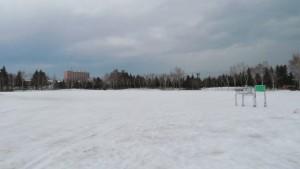圧雪広場と歩くスキー発着点