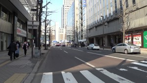 市道西3丁目線とJR札幌駅