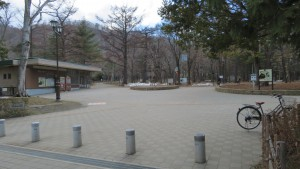 公園出入口とパークセンター
