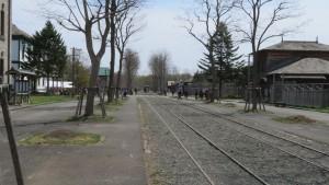 馬車鉄道の線路