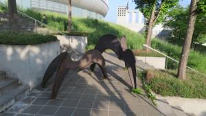 野外彫刻「休息する翼」