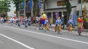 豊平祭典区の行列